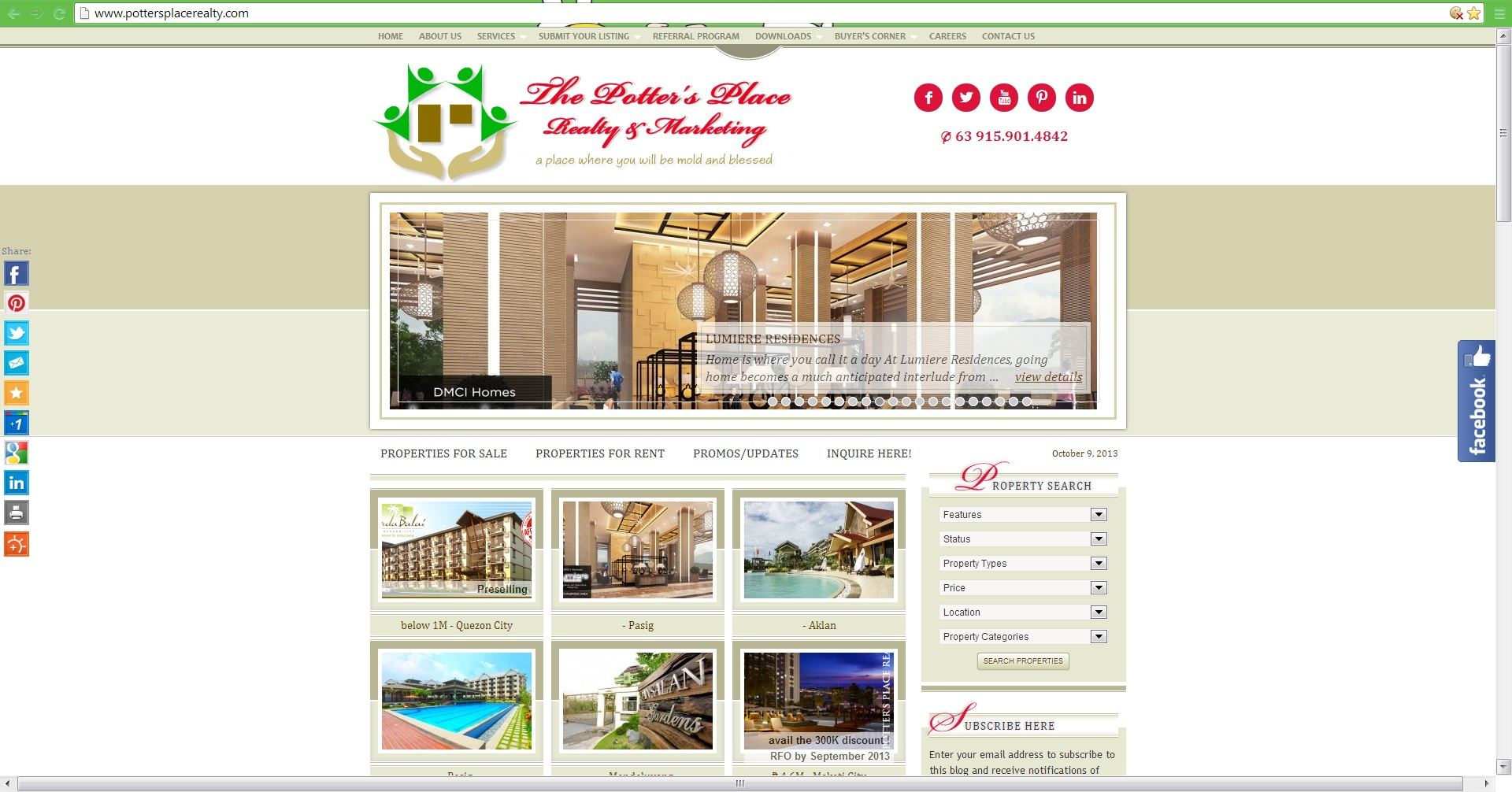The Potter's Place Realty & Marketing official website
